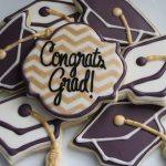 graduation themed sugar cookies