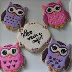 owl themed sugar cookies
