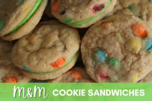 M&M Cookie Sandwiches