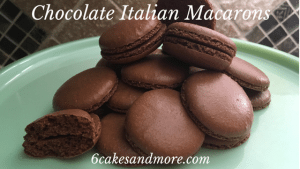 chocolate Italian macarons
