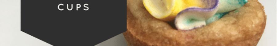 Mini MM Cookie Cups Buttercream