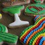 fiesta themed sugar cookies