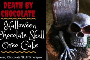 Halloween Chocolate Skull Oreo Cake