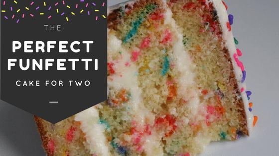 Perfect Funfetti Cake for Two