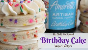 Birthday Cake Sugar Cookies