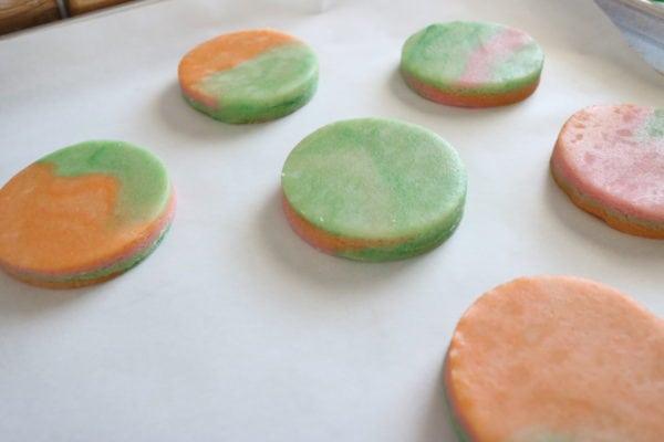 Rainbow Sherbet Sugar Cookies NO CHILL NO SPREAD 6cakesandmore