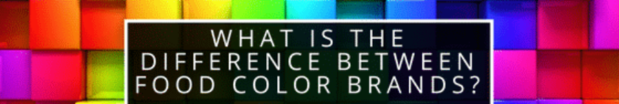 What is the difference between food color brands?