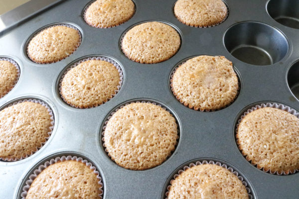 spice cupcake out of the oven 6cakesandmore