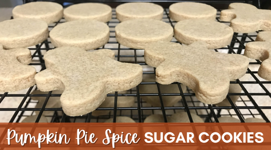 Pumpkin Pie Spice Sugar Cookies