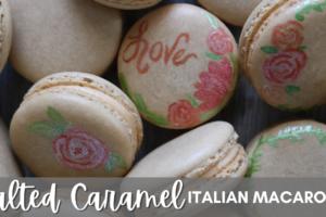 Salted Caramel Italian Macarons