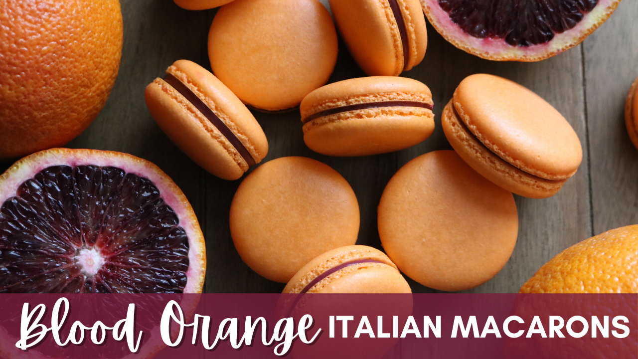 Blood Orange Italian Macarons