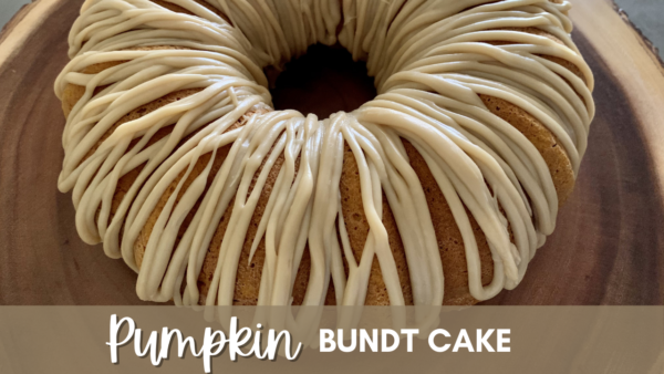 Pumpkin Bundt Cake with Caramel Icing
