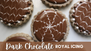 Dark Chocolate Royal Icing